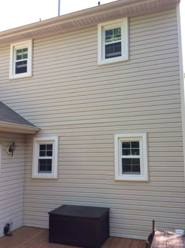 New siding and windows installed by Design A Castle